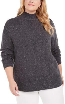 Karen Scott Plus Size Mock-Neck Sweater
