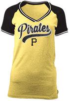 5th & Ocean Women's Pittsburgh Pirates Rhinestone Night T-Shirt
