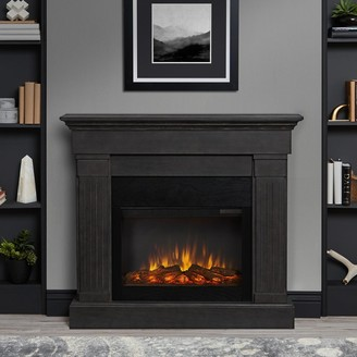Real Flame Crawford Electric Fireplace in Gray - 47.4L x 9.5W x 41.9H