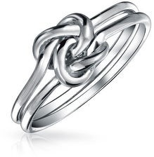 Bling Jewelry Unity Irish Celtic Knot Infinity Ring Double Band 925 Sterling Silver