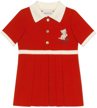 Gucci Baby wool dress with kitten