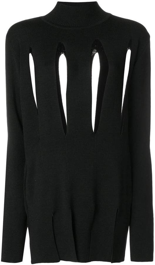 Marques Almeida Marques'almeida slashed high-neck sweater