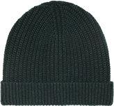 Reiss Reiss Milton - Ribbed Beanie Hat In Green