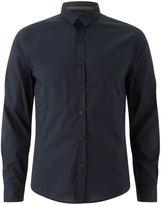 Brave Soul Men's Tudor Long Sleeve Shirt - Navy