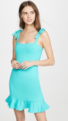 Susana Monaco Tie Strap Ruffle Hem Dress