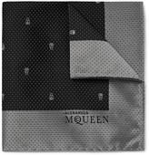 Alexander Mcqueen - Skull And Pin-dot Silk-jacquard Pocket Square