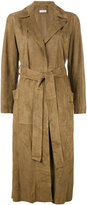 Desa Collection - draped coat - women - Suede - 38