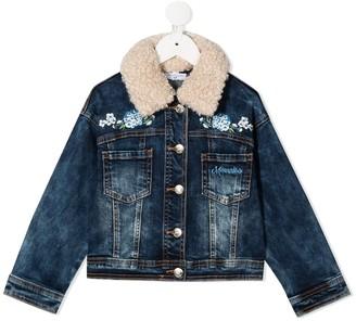 MonnaLisa Floral Embroidery Trucker Jacket