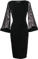 Chiara Boni Le Petite Robe Di mesh-sleeve midi dress