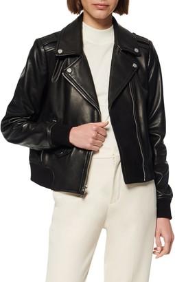 Andrew Marc Sandino Leather Bomber Jacket