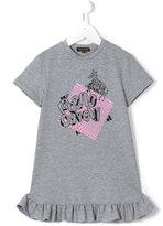 Roberto Cavalli zebra print dress - kids - Cotton/Spandex/Elastane - 6 yrs