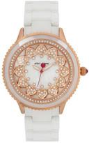 Betsey Johnson Women&s Sunny Crystal Ceramic Bracelet Watch