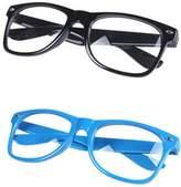 FancyG® Classic Retro Style Fashion Eyewear Clear Lenses Glasses Frame 2 Pieces Set 3