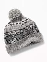 Old Navy Patterned Sweater-Knit Beanie for Men