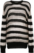 McQ by Alexander McQueen striped roll neck jumper - women - Polyamide/Cashmere/Wool/Kid Mohair - XS