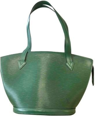 Louis Vuitton Saint Jacques Green Leather Handbags