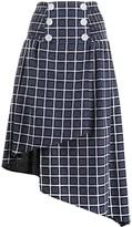 Three floor double buttoned asymmetric Carmelle skirt