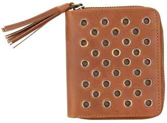 Hadaki Genuine Leather Square Grommet Wallet
