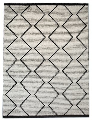 Mercury Row Simone Geometric Off-White Area Rug Rug Size: Runner 2' x 6'11""