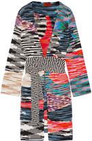 Missoni Crochet-knit Wool-blend Cardigan - Black