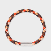 Paul Smith Men's Brown And Orange Leather Plaited Bracelet