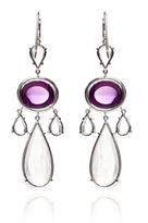 Nina Runsdorf Amethyst Cabochon, Moonstone And Diamond Earrings