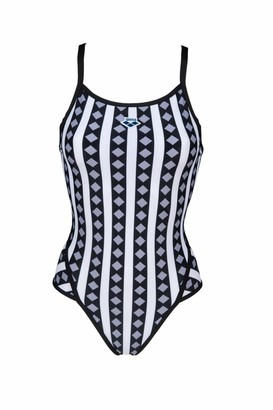 Arena Women's Mark Spitz Exclusive Super Fly Back One Piece Swimsuit Allover Print-Black/Multi 32