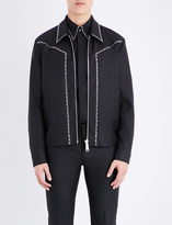 DSQUARED2 Studded wool-blend bomber jacket