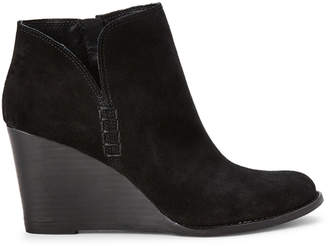 Lucky Brand Black Yimme Wedge Suede Booties