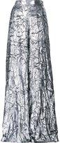 DELPOZO metallic (Grey) palazzo pants - women - Silk/Polyester - 34