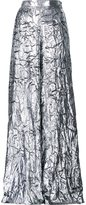 DELPOZO metallic (Grey) palazzo pants