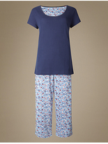 M&S Collection Pure Cotton Ditsy Print Pyjamas