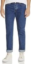Soulland Erik Slim Fit Cuffed Jeans in Indigo