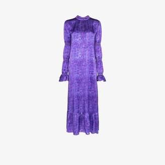 Helmstedt HELMSTEDT Grapes printed silk maxi dress