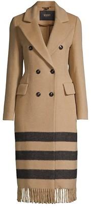 Seventy Stripe Hem Double-Breasted Coat