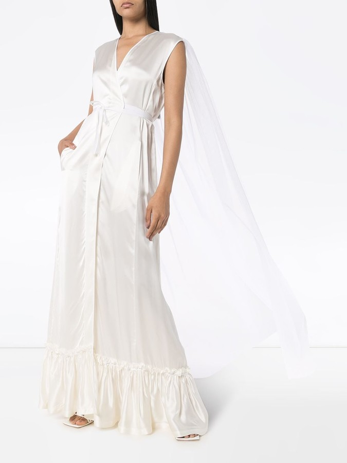 Thumbnail for your product : MM6 MAISON MARGIELA Ruffled Wrap Gown