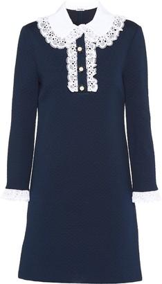 Miu Miu Jacquard Jersey Dress