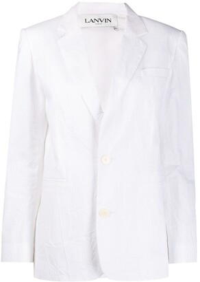 Lanvin crinkle effect suit jacket