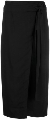 Rochas Wrap Pencil Skirt