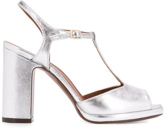 L'Autre Chose metallic T-bar sandals