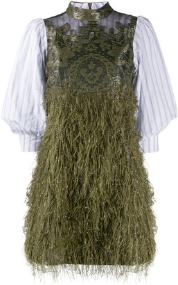 Ganni Feathery Mini Dress