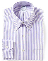 Brooks Brothers Non-Iron Regent Fitted Classic-Fit Button-Down Collar Striped Dress Shirt