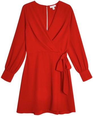 Topshop Petite Twist Front Mini Dress - Red