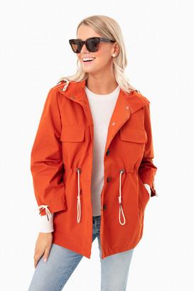 BARBOUR X ALEXA CHUNG Sunset Orange Phoebe Jacket