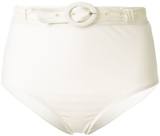 Peony Swimwear High-Rise Belted Bikini Bottoms