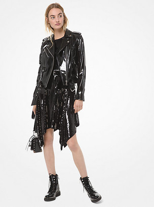 Michael Kors Patent Leather Moto Jacket