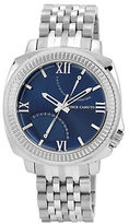 Vince Camuto Stainless Steel Bracelet Watch with Navy Dial