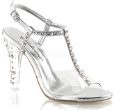 Women's Fabulicious Clearly 426 T-Strap Sandal