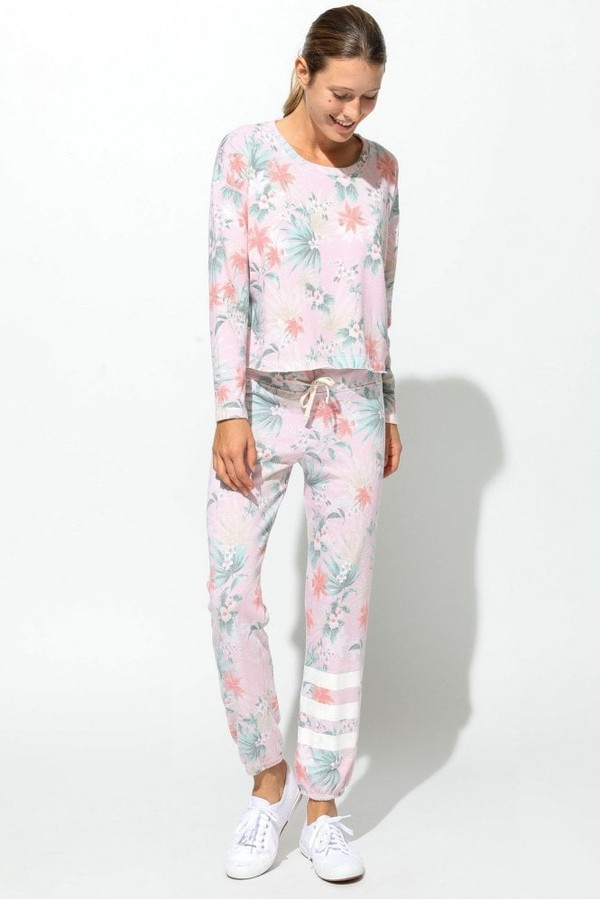 Thumbnail for your product : Sundry Tropical Florida Sweat Top - Xsmall