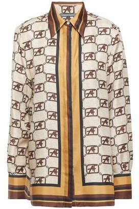 Alberta Ferretti Printed Silk-twill Shirt